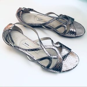 Dana Buchman Silver Strappy Sandals
